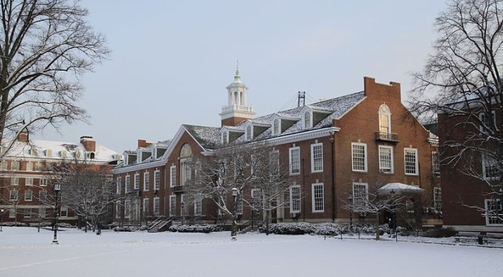 Maryland Hall in the Wyman Quad of Johns Hopkins University