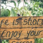 Job Qoute-Life is short enjoy your coffee signature