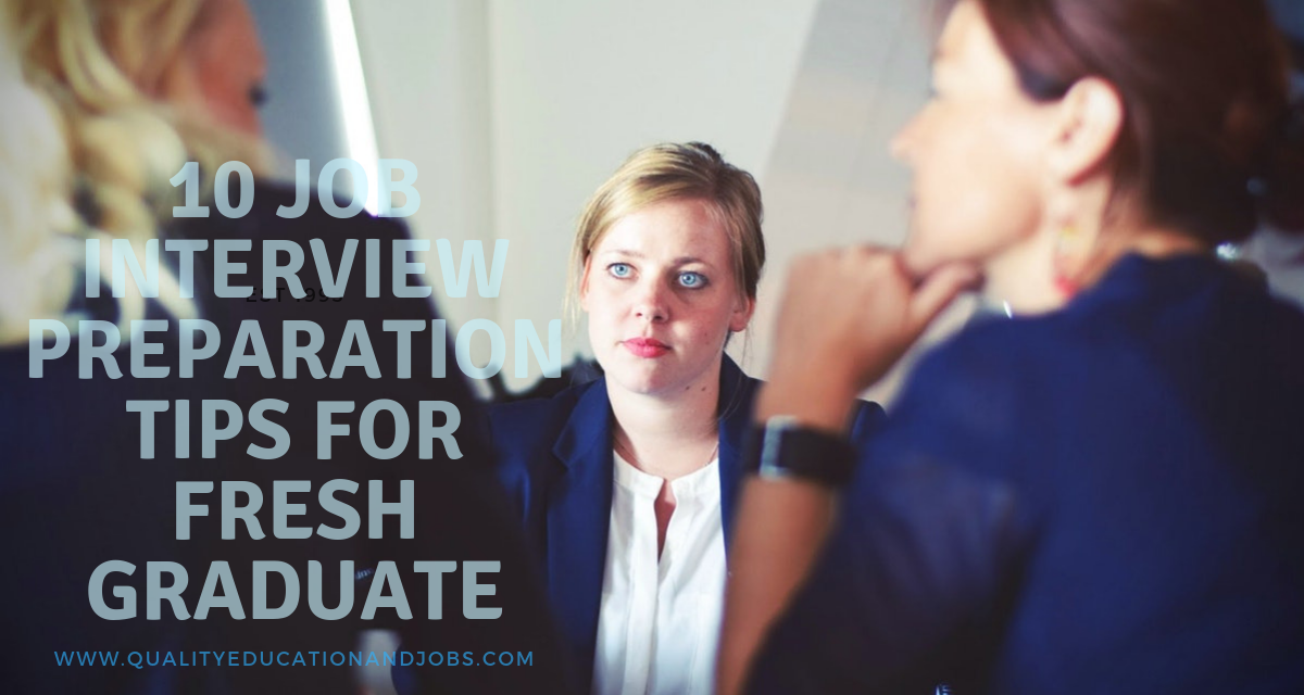 The 10 Job Interview Preparation Tips For Fresh Graduate