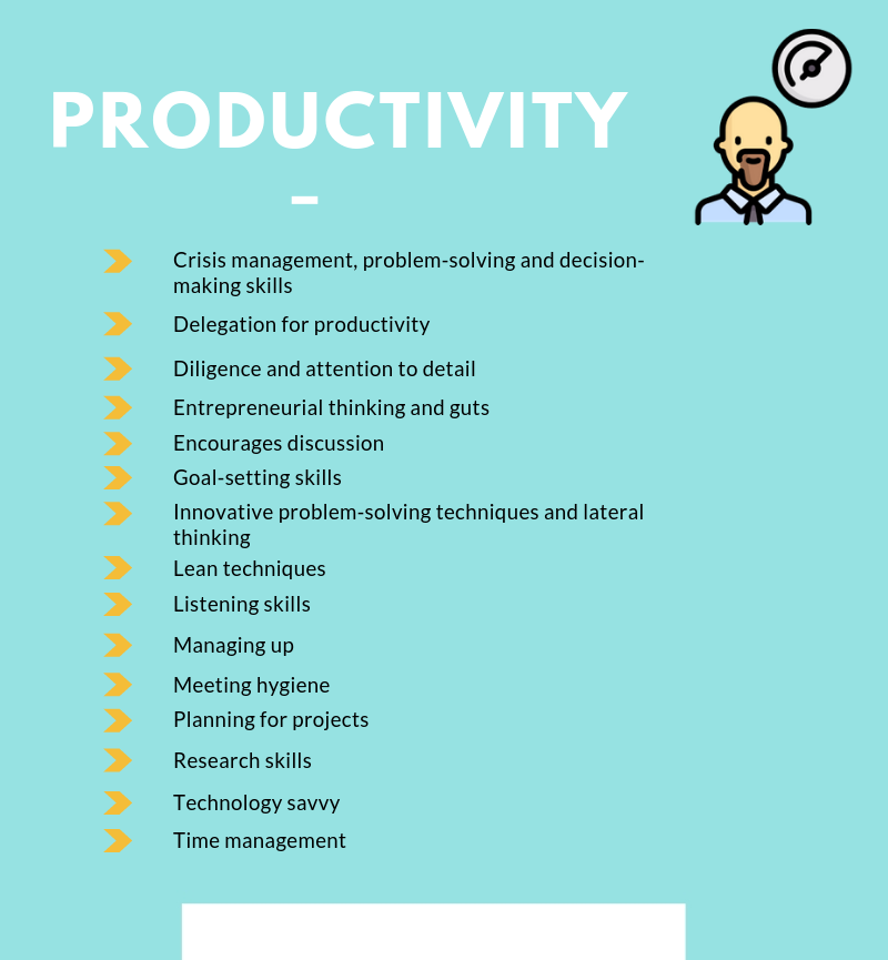 productivity info graphics