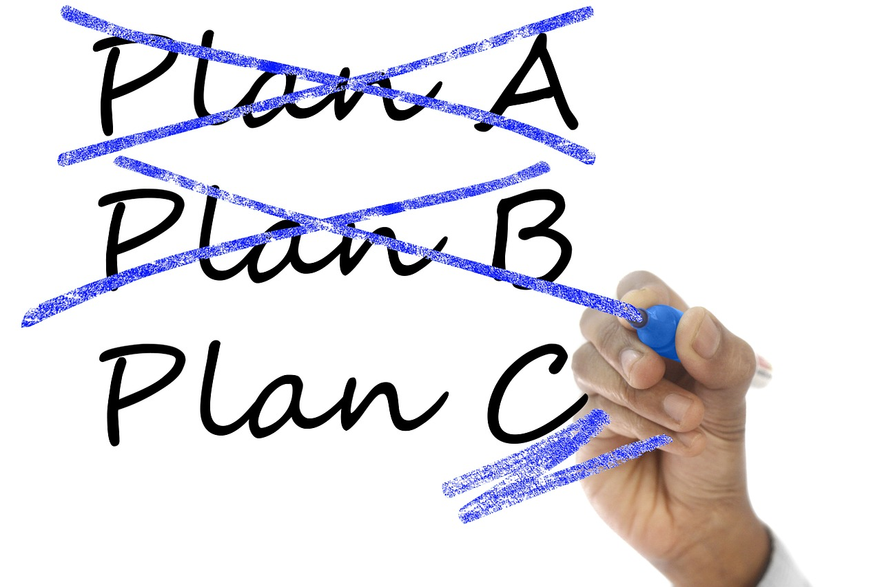 plans A, b and c